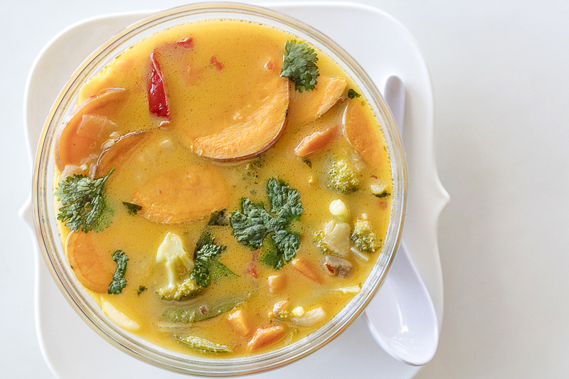 Tom Kha Gai: Thai Chicken and Vegetable Soup with Coconut Milk Recipe