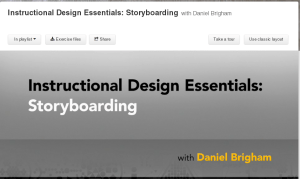 Storyboarding Course on Lynda.com