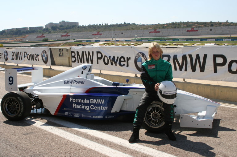 Jackie Weiss qualified BMW USA in Valencia, Spain