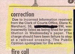Newspaper Correction