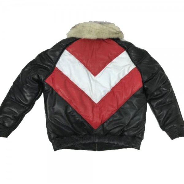 e1b0d5ab058 Mens Bomber Multicolor Lambskin Leather Jacket with Fox Fur Collar