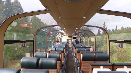 Our carriage on the Skeena train.