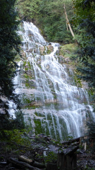 Bridal Veil Falls near Rosedale on the Trans Canada Highway.