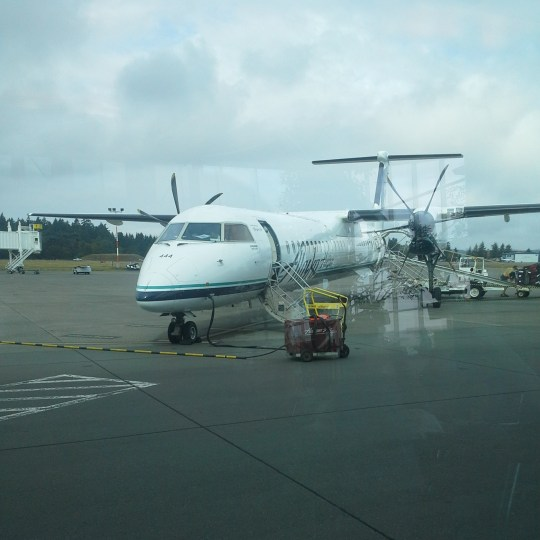 The plane for our short International flight