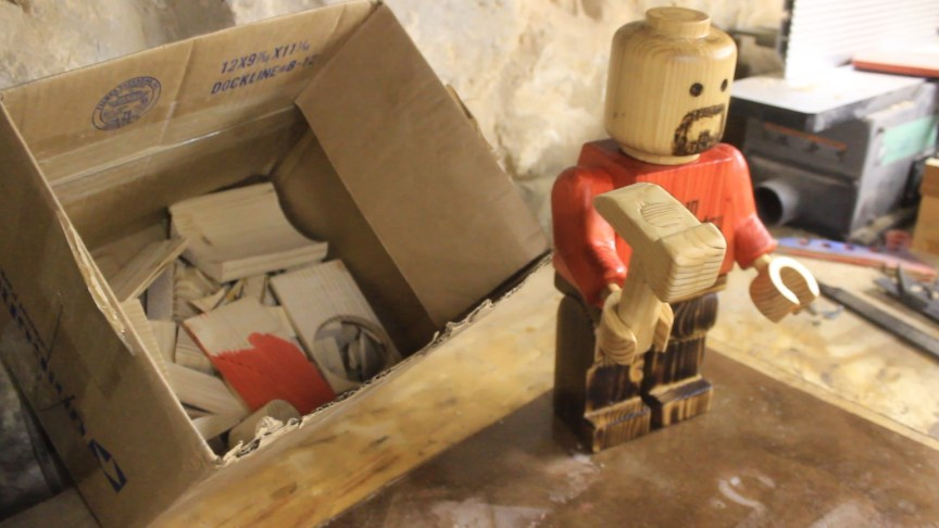 Wood Lego Man From A 2 215 4 Jackman Works