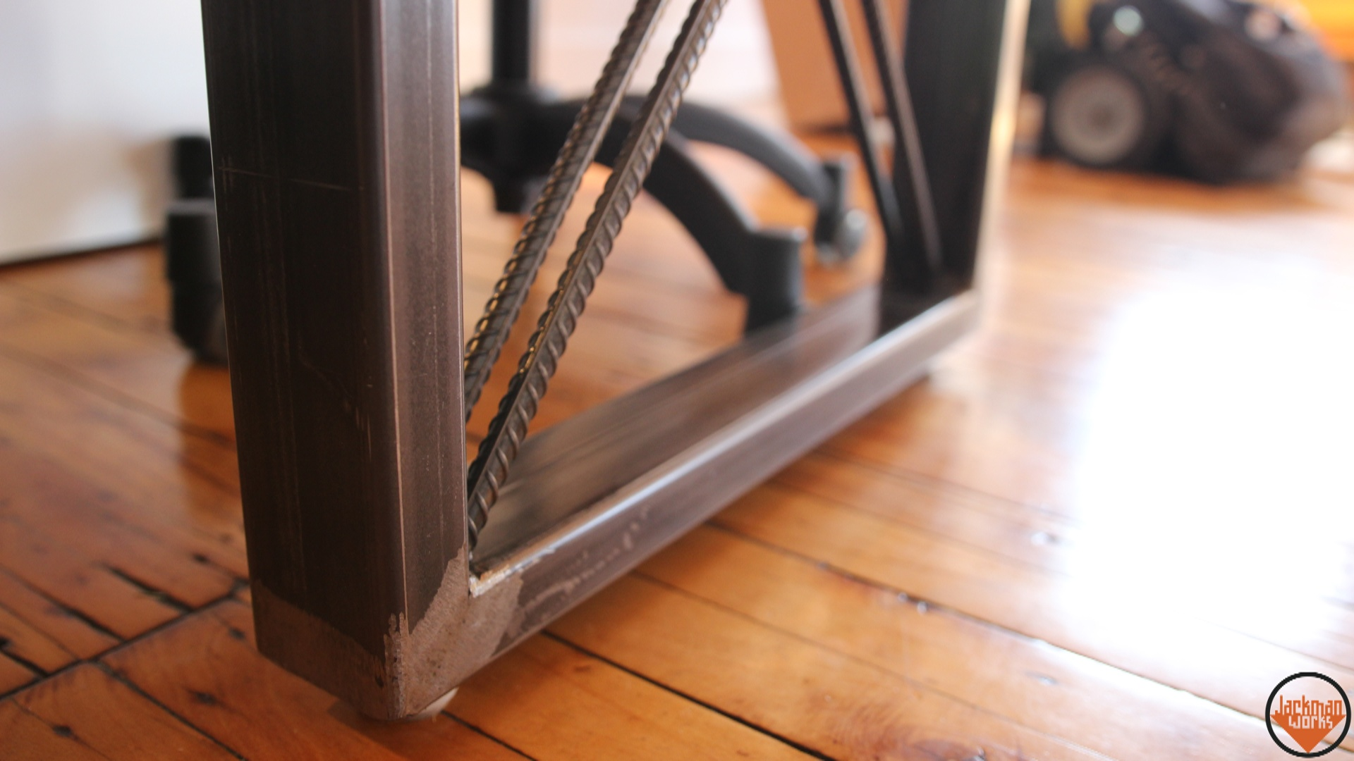 ... Frame,tube Steel,rebar,rebar Furniture,modern,butcherblock,maple,ikea,ikea  Hack,furniture,industrial Furniture Design