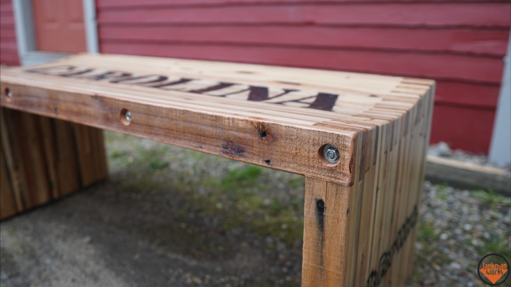 Pallet Wood Slat Bench Jackman Works