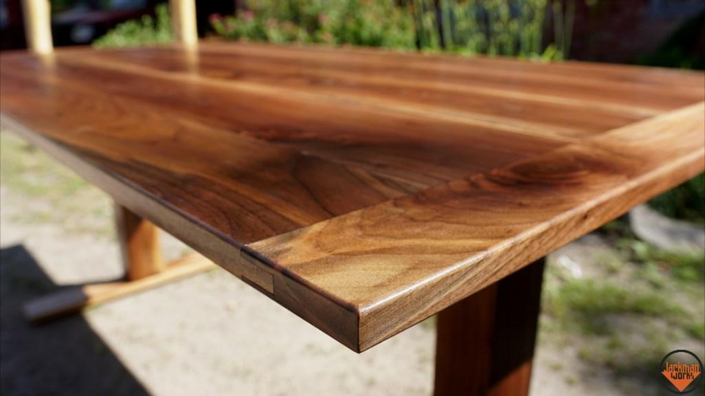 Adjustable Height Sit Stand Walnut Desk Jackman Works