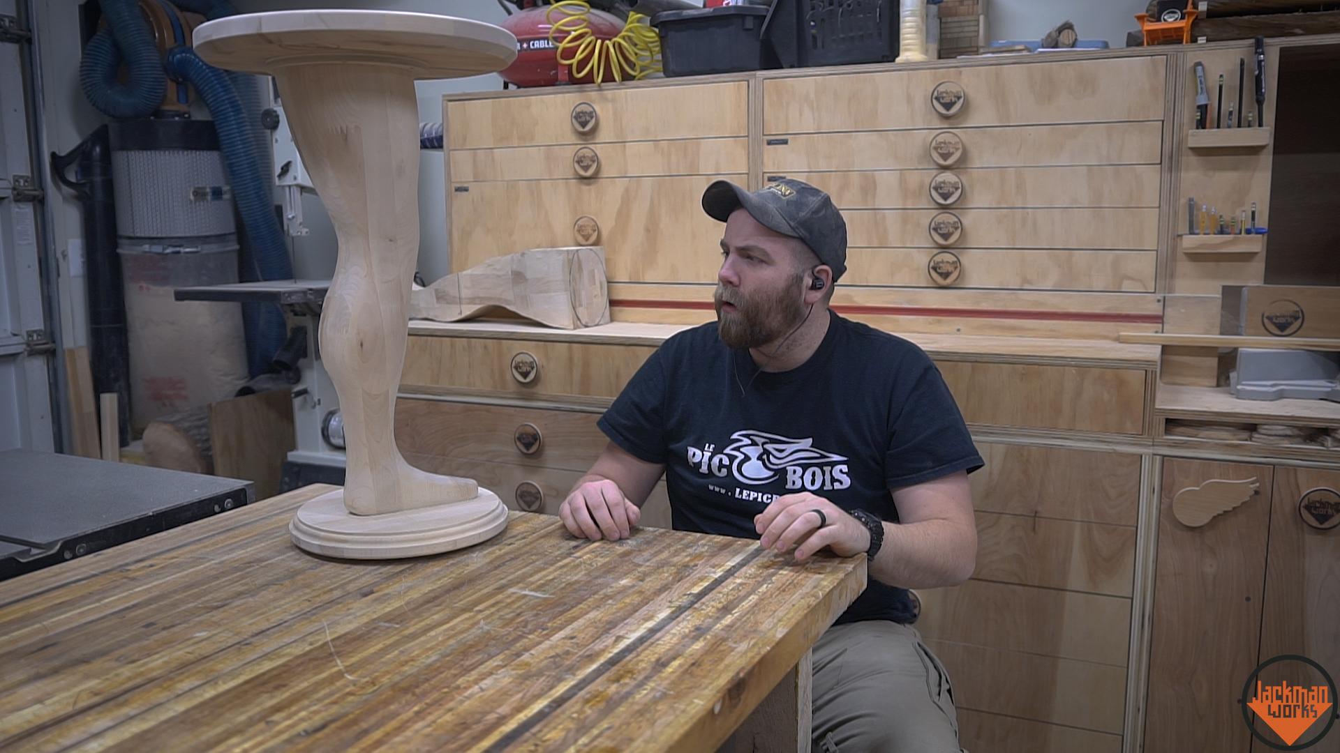 Making A Wood Pedestal Leg Table 21 Jackman Works