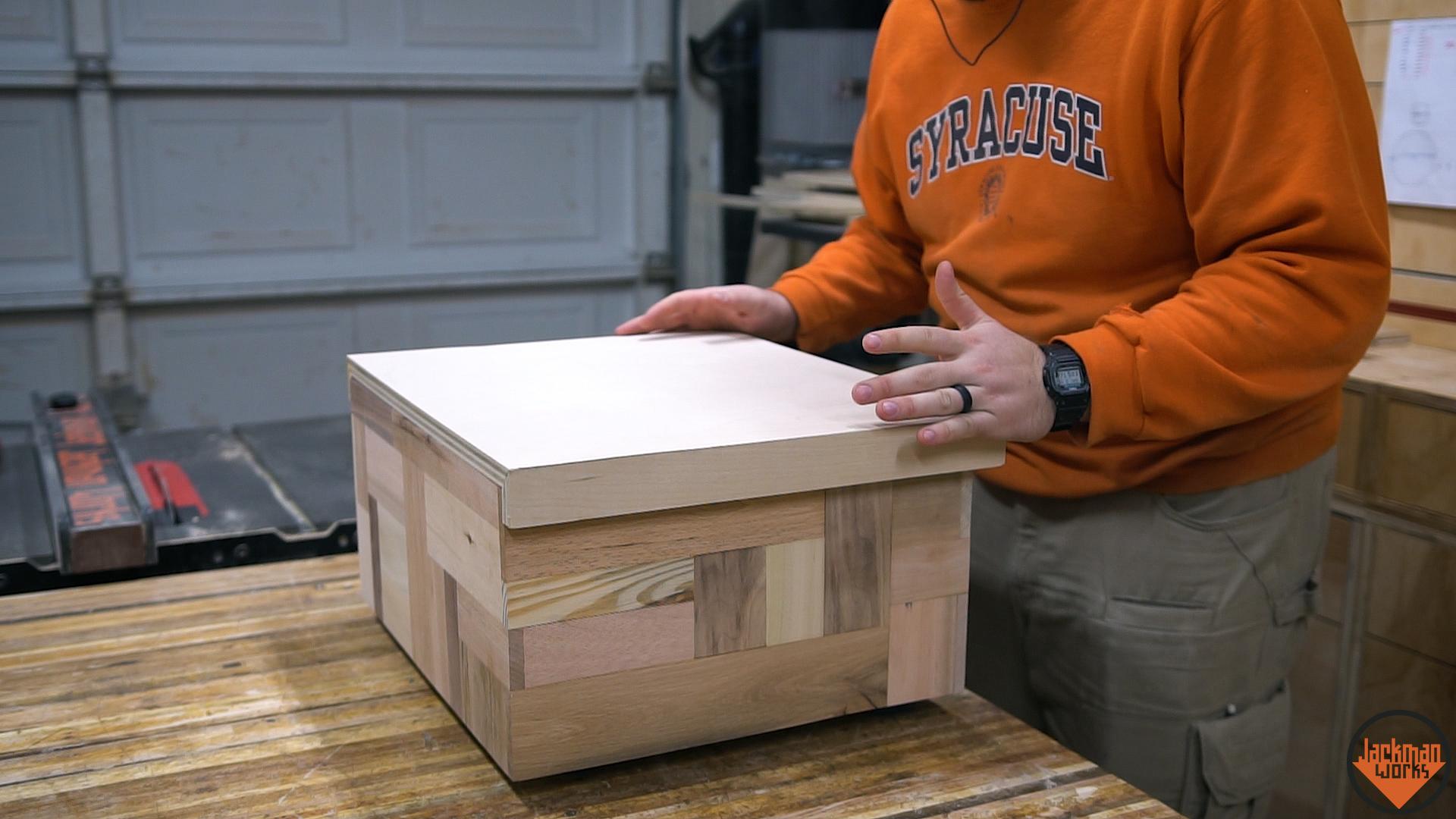 Secret Compartment Pallet Wood Shoe Box 17