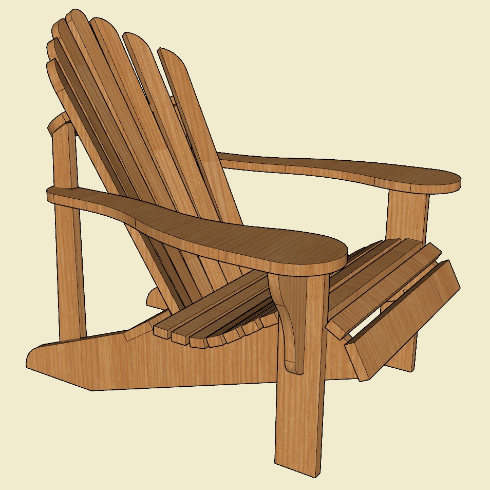 This is a photo of Printable Adirondack Chair Plans pertaining to metric