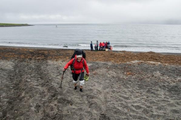 Dropped on the beach of Sæból by a zodiak