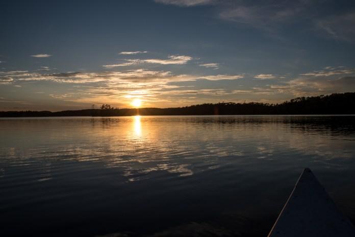 Sunset on Banning Lake