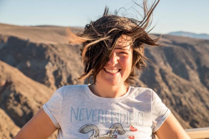 Nina in the wind :-)
