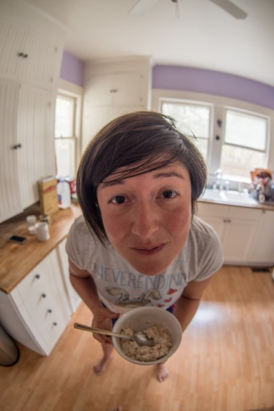 fish eye in the morning