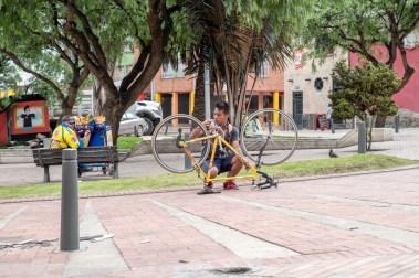 Bogota biker