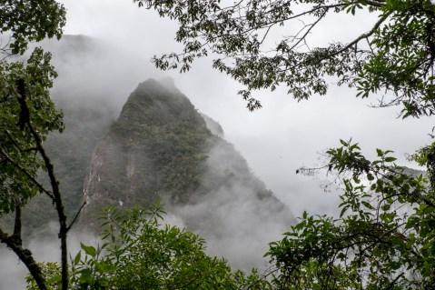Climbing to Machu Picchu