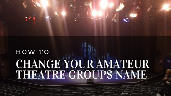 Consider, that Amateur theatre groups happens. can