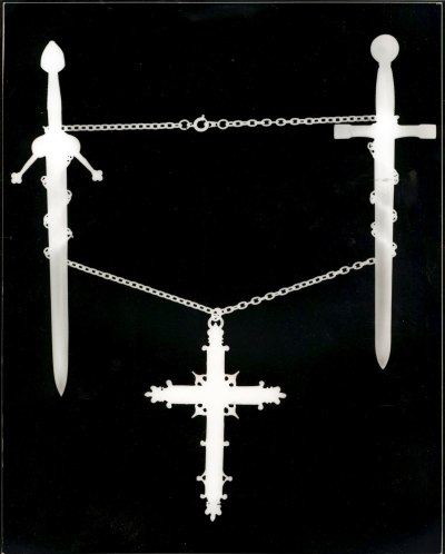 Composition with Cross and Swords. (Photogram)