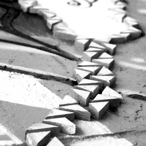 Abstract image resembling stepping stones