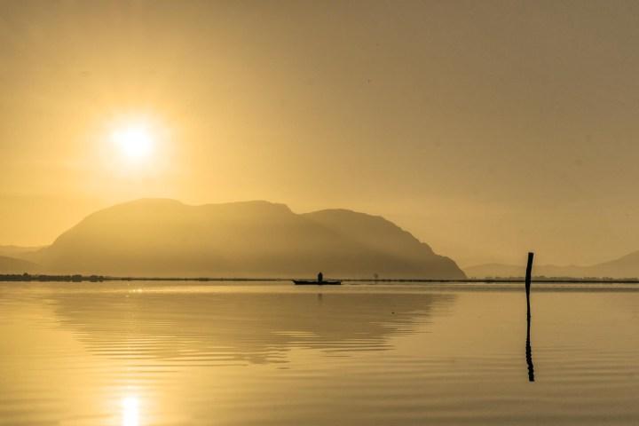 Sunrise at the Lagoon of Mesolonghi