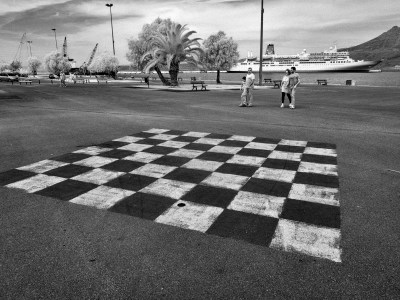 Checkerboard (Infrared Street Photography)