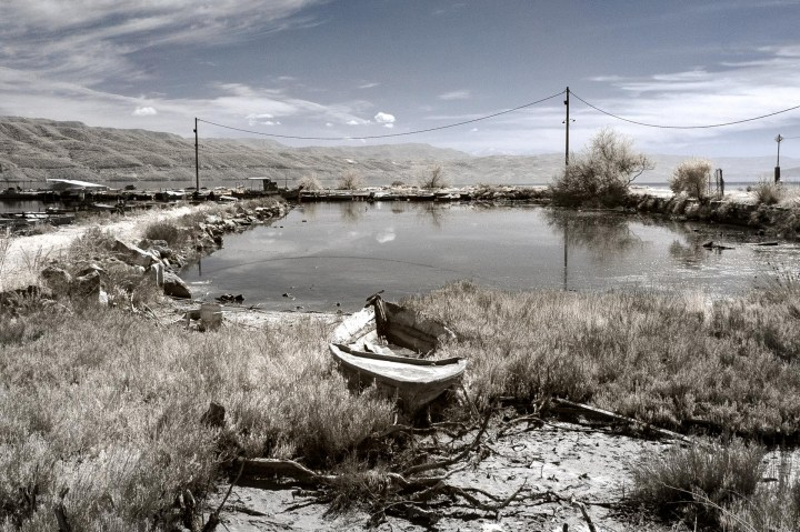 Boat Rotting on Land (Normal and Infrared)