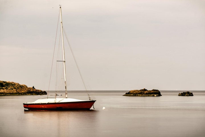 A Red Boat (long exposure simulation)