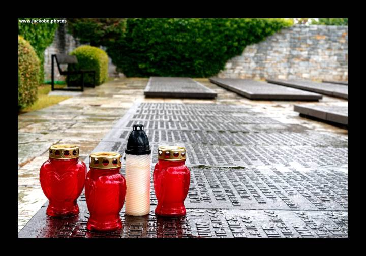 In Memoriam (Votive Candles on a Grave)