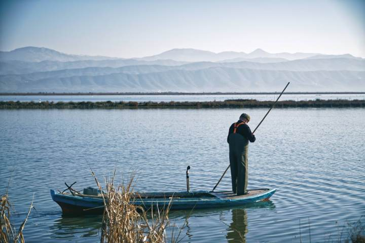 A Fisherman at the Marshland