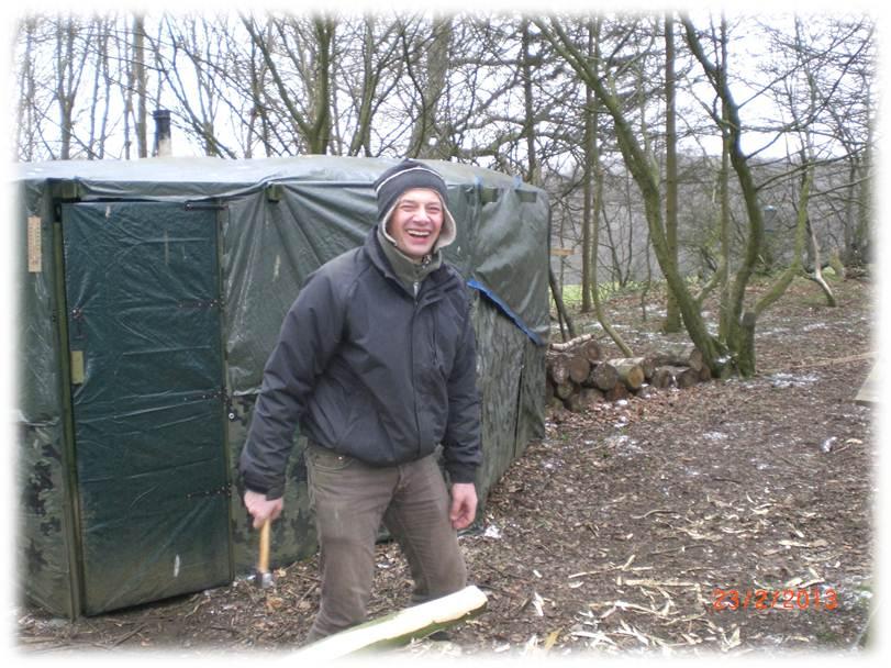 Bushcraft Camp | Kitchen |Tarp | camp maintenance weekend | bushcraft camp | Kent