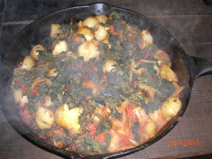 nettle and potato curry