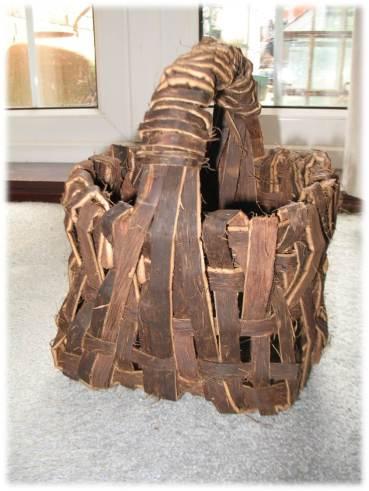 bushcraft | chestnut bark weaving