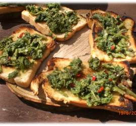 Ramson and Hogweed Crostini