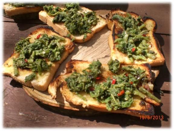 ramson and hogweed crostini | wild foods | Kent | southeast