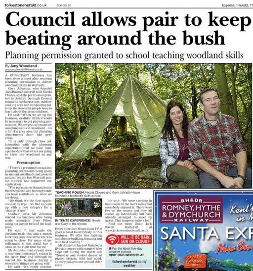 Ashford Herald | Bushcraft | South East | Kent