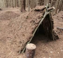 The finished debris shelter