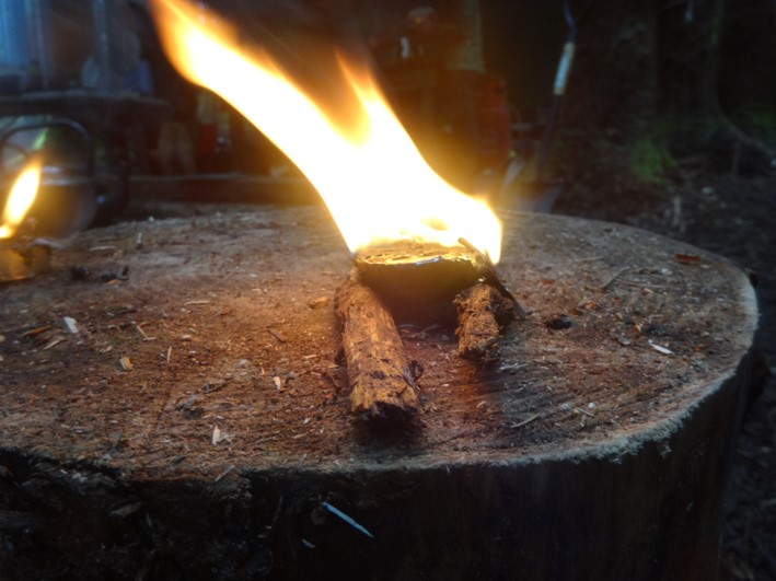 pine resin candle