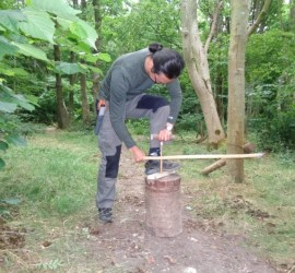 alternative postures for bow drilling | Alternative bow drilling methods | bushcraft | Kent | London | south east