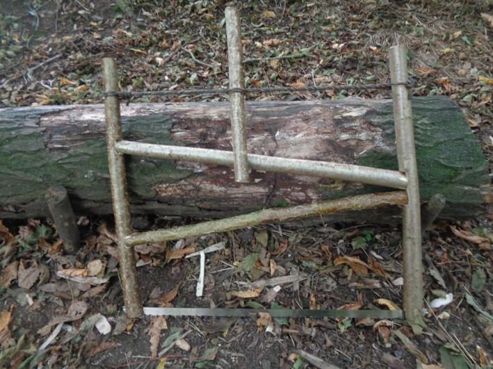 how to make a buck saw   bushcraft   Kent   south east   London