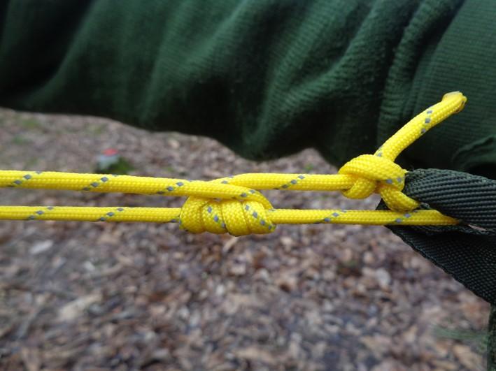 midshipman's hitch | tarp | tarpaulin | bushcraft | Kent | London | south east