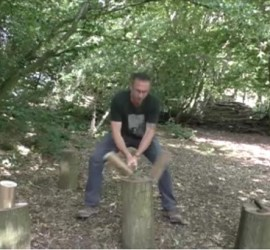 splitting wood with an axe | bushcraft | Kent | south east | London | axe skills | axe courses | axe workshop