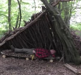making a bed for a debris shelter | bushcraft | Kent | London | south east