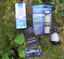 We teach using chemicals to purify water | bushcraft | Kent | London | south east