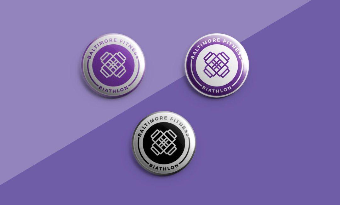 Baltimore Fitness Biathlon button design