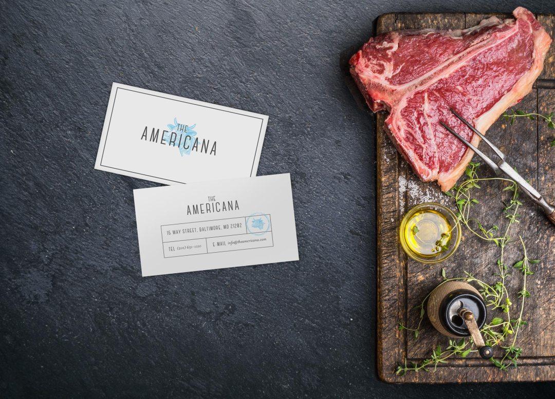 The Americana business card design