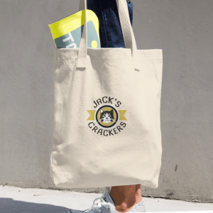 Jack's Crackers Cotton Tote Bag