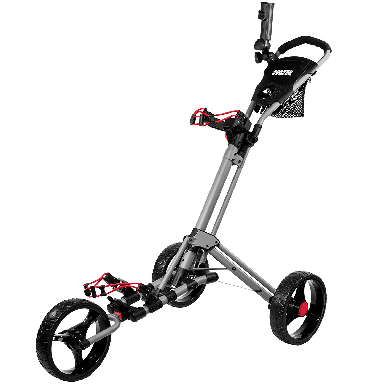 Biltek Premium 3 Wheel Golf Push Cart Trolleys