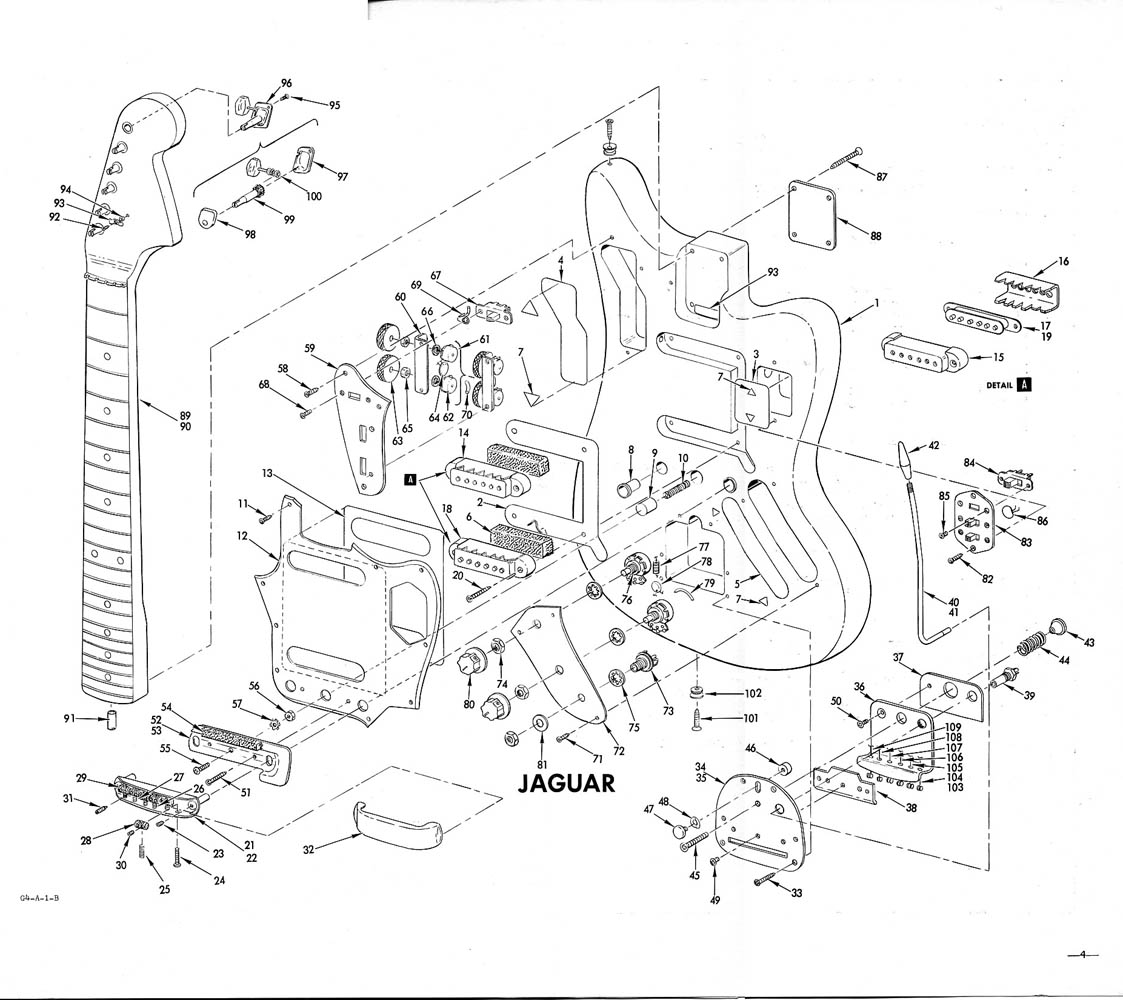 Fender Jaguar Schematic Interesting To See All The Parts
