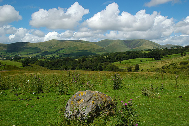 The Howgills from upper Wensleydale